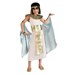 Cleopatra Costume, Blue, Small